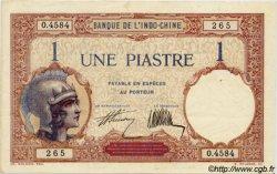 1 Piastre INDOCHINE FRANÇAISE  1927 P.048b SUP