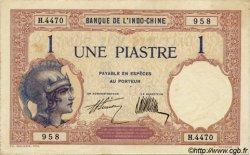 1 Piastre INDOCHINE FRANÇAISE  1927 P.048b SUP+