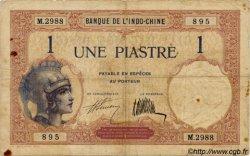 1 Piastre INDOCHINE FRANÇAISE  1927 P.048b TB