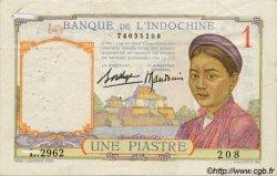 1 Piastre INDOCHINE FRANÇAISE  1936 P.054b TB+