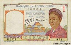 1 Piastre INDOCHINE FRANÇAISE  1945 P.054c TTB