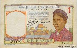 1 Piastre INDOCHINE FRANÇAISE  1945 P.054c TTB+
