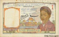 1 Piastre INDOCHINE FRANÇAISE  1945 P.054d TTB+