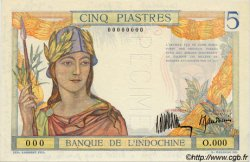 5 Piastres INDOCHINE FRANÇAISE  1932 P.055as pr.NEUF