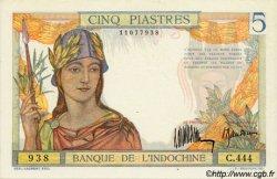 5 Piastres INDOCHINE FRANÇAISE  1932 P.055a pr.NEUF