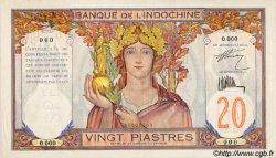 20 Piastres INDOCHINE FRANÇAISE  1927 P.050s TTB+