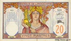 20 Piastres INDOCHINE FRANÇAISE  1927 P.050 TTB+