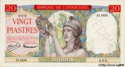 20 Piastres à-plats rouges INDOCHINE FRANÇAISE  1949 P.081s pr.NEUF