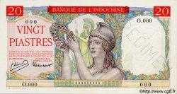 20 Piastres INDOCHINE FRANÇAISE  1949 P.081s pr.NEUF