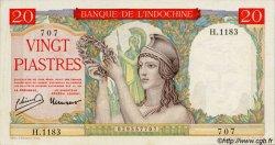 20 Piastres à-plats rouges INDOCHINE FRANÇAISE  1949 P.081 SUP+