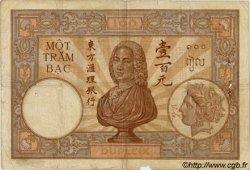 100 Piastres INDOCHINE FRANÇAISE  1925 P.051a B+
