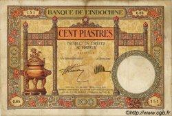 100 Piastres INDOCHINE FRANÇAISE  1927 P.051b TB