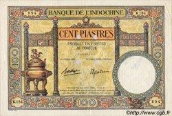 100 Piastres INDOCHINE FRANÇAISE  1936 P.051ds TTB+