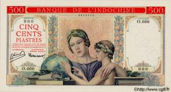 500 Piastres à-plats rouges INDOCHINE FRANÇAISE  1951 P.083s NEUF