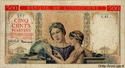 500 Piastres à-plats rouges INDOCHINE FRANÇAISE  1951 P.083 TB
