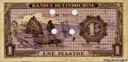 1 Piastre violet INDOCHINE FRANÇAISE  1943 P.060s TTB