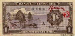 1 Piastre violet FRENCH INDOCHINA  1943 P.060s