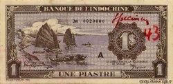 1 Piastre violet INDOCHINE FRANÇAISE  1943 P.060s SPL
