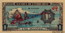 1 Piastre bleu INDOCHINE FRANÇAISE  1944 P.059as NEUF