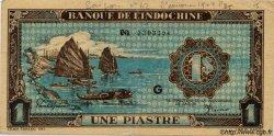 1 Piastre bleu INDOCHINE FRANÇAISE  1944 P.059a TTB+