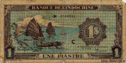 1 Piastre bleu INDOCHINE FRANÇAISE  1944 P.059a B