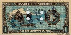 1 Piastre bleu INDOCHINE FRANÇAISE  1944 P.059bs SPL