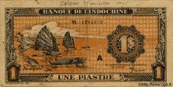 1 Piastre orange INDOCHINE FRANÇAISE  1945 P.058 var TB+