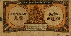 1 Piastre orange INDOCHINE FRANÇAISE  1945 P.058 var B