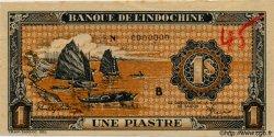 1 Piastre orange INDOCHINE FRANÇAISE  1945 P.058 vars SPL