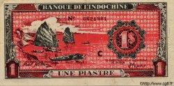 1 Piastre rouge INDOCHINE FRANÇAISE  1945 P.058 var TTB