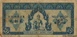 20 Piastres bleu INDOCHINE FRANÇAISE  1943 P.065 TB