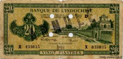 20 Piastres vert INDOCHINE FRANÇAISE  1944 P.070 B