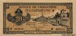 20 Piastres marron INDOCHINE FRANÇAISE  1945 P.071 SPL
