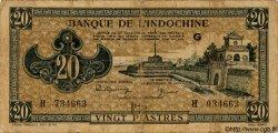 20 Piastres marron INDOCHINE FRANÇAISE  1945 P.071 B+