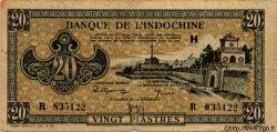 20 Piastres marron INDOCHINE FRANÇAISE  1945 P.071 TB+