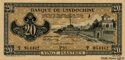 20 Piastres marron INDOCHINE FRANÇAISE  1945 P.071 SPL+