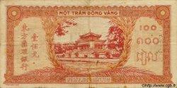 100 Piastres orange INDOCHINE FRANÇAISE  1942 P.066 TB+