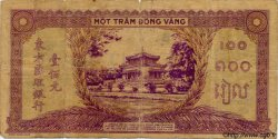 100 Piastres violet et vert INDOCHINE FRANÇAISE  1944 P.067 TB