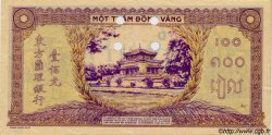 100 Piastres violet et vert INDOCHINE FRANÇAISE  1944 P.067s SUP