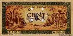 100 Piastres orange, cadre noir INDOCHINE FRANÇAISE  1945 P.073s SUP