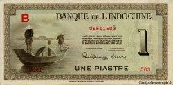 1 Piastre INDOCHINE FRANÇAISE  1945 P.076a SUP