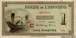 1 Piastre INDOCHINE FRANÇAISE  1945 P.076b TTB+