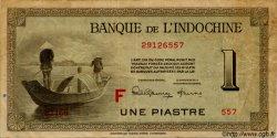 1 Piastre INDOCHINE FRANÇAISE  1945 P.076c TB