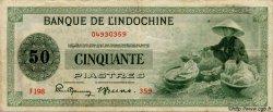 50 Piastres INDOCHINE FRANÇAISE  1945 P.077 TB+