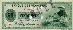 50 Piastres INDOCHINE FRANÇAISE  1945 P.077s TTB+