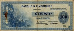100 Piastres INDOCHINE FRANÇAISE  1945 P.078 TB