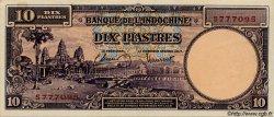 10 Piastres INDOCHINE FRANÇAISE  1947 P.080 SPL