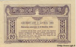 20 Cents INDOCHINE FRANÇAISE  1920 P.045b SUP+