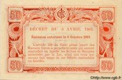 50 Cents INDOCHINE FRANÇAISE  1920 P.046 (ref) SPL