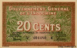 20 Cents INDOCHINE FRANÇAISE  1939 P.086a SPL
